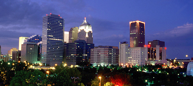 Downtown Oklahoma City at dusk